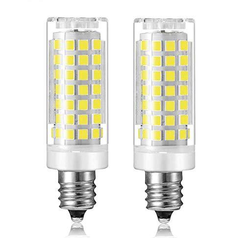 jde11 Bulb 7W Equivalent 60W 75W Incandescent Bulbs E11 JD Light Bulb 700LM e11 Mini Candelabra Base Light AC 120V CRI 85 (2 Pack) (Daylight White 6000K)