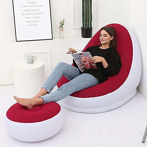 Aufblasbares Sofa Luftsofa Inflatable Chair Sessel Klappbares Single Lounge Air Sofa Für Indoor Outdoor Soft Komfortabel Leicht Zu Verstauen