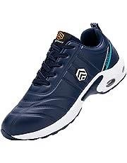 [DYKHMILY] 防水 安全靴 メンズ 軽量 エアクッション あんぜん靴 鋼鉄先芯(JIS H級相当) 衝撃吸収 耐滑 作業靴 おしゃれ アウトドア セーフティーシューズ スニーカー
