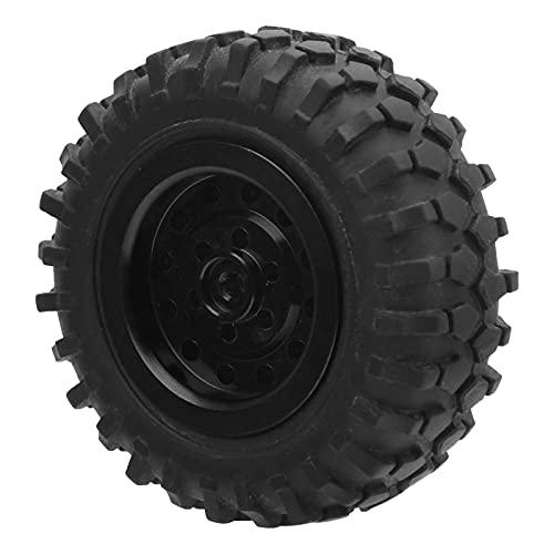 WYDM Neumáticos de Goma RC, neumáticos de camión RC de 55 mm / 2,2 Pulgadas con Tornillo Neumáticos Antideslizantes de Goma de aleación de Aluminio para D12 1/10
