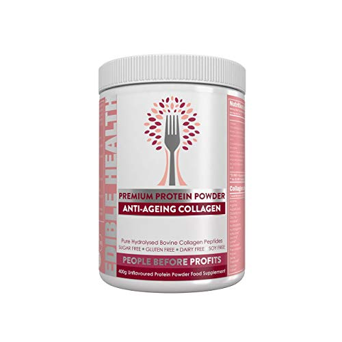 Premium Anti-Ageing Collagen Powder. Fast Acting Hydrolysed Bovine Protein Peptides from EU + Vitamins, Hyaluronic Acid, Zinc, Biotin, Resveratrol. 13,000mg, 400g tub. Powerful Blend *Read Below*