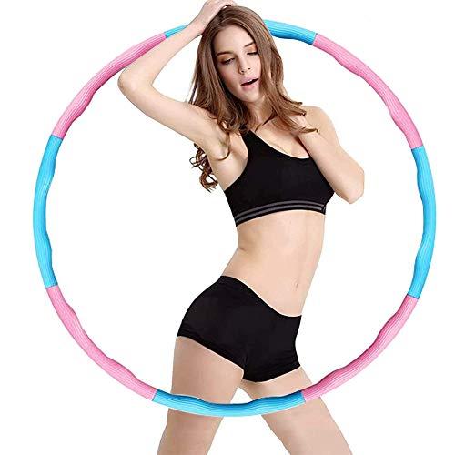 Hamazar Fitness Reifen Hoop für Erwachsene & Kinder zur Gewichtsabnahme und Massage, 6-8-Segmente Abnehmbarer für Fitness/ Sport/ Zuhause/ Büro/ Bauchformung