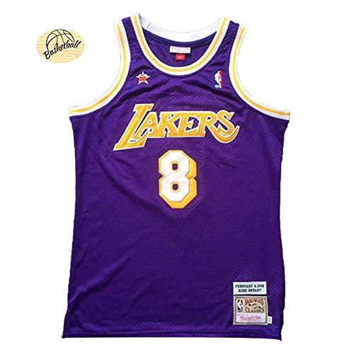 Bryant Basketball Trikots 8# Los Angeles Lakers 98 All-Star Youth Herren Bestickte Basketballweste, schnelltrocknend, modisch, bequem, Trainingsanzug, Sweatshirt (S-2XL) L farbe