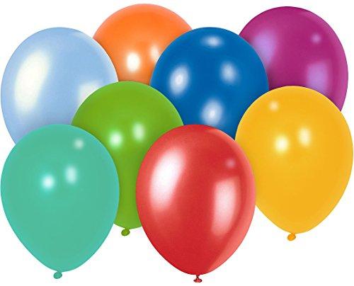 Playtastic Ballon: 100er-Megapack Bunte Luftballons, bis 30 cm (Helium Luftballons)