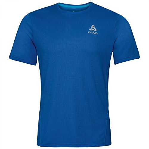 Odlo Sliq T-Shirt Manches Courtes de Course à Pied Homme, Energy Blue, FR : S (Taille Fabricant : S)