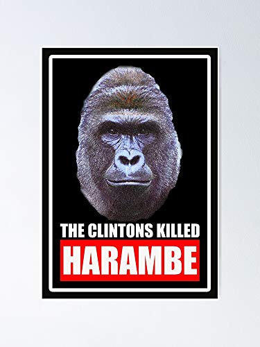 guyfam The Clintons Killed Harambe Poster 11.7x16.5 Inch Frame Board for Office Decor, Best Gift Dad Mom Grandmother and Your Friends