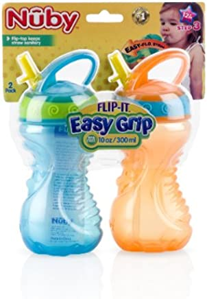 Nuby 2-Pack 10 oz. Flip-and-Tip Hard Straw Cup Case