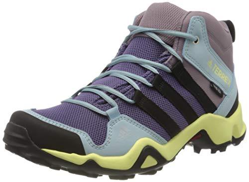 adidas Unisex-Child Terrex AX2R Mid CP Walking Shoe, Tech Purple/Core Black/Legacy Purple, 40 EU