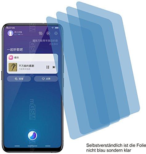 4ProTec I 4X Crystal Clear klar Schutzfolie für Vivo NEX S Bildschirmschutzfolie Displayschutzfolie Schutzhülle Bildschirmschutz Bildschirmfolie Folie