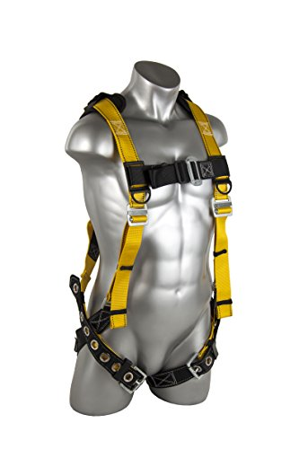 Guardian Fall Protection 11166 XL-XXL Seraph Universal Harness with Leg Tongue Buckle Straps