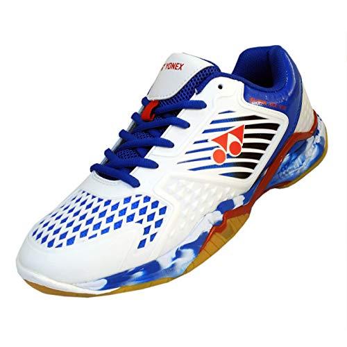 Yonex SuperAce Light Badminton Shoes - White Blue - 8