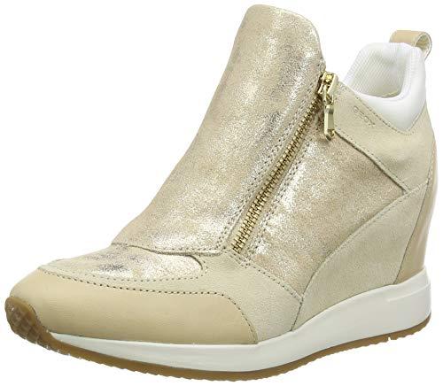 Geox Damen D NYDAME E Sneaker, Beige (Sand C5004), 35 EU
