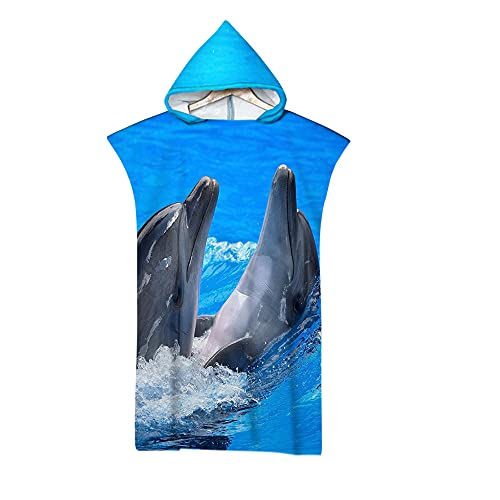 Sticker Superb Mando Video Juego Delfín Tortuga Mariposa Manta Playa, Toalla Yoga Deporte Gimnasio, Azul Negro Toalla de Playa Grande de Microfibra de Verano Niña Chico (Azul 3)