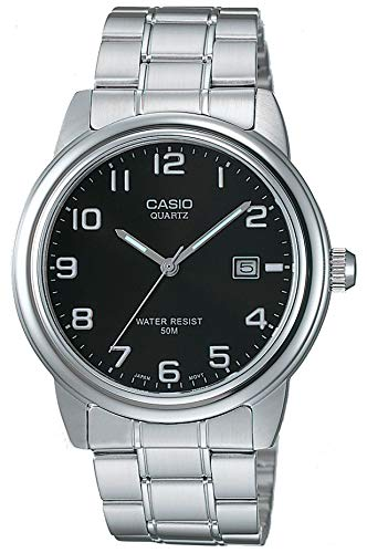 Casio Collection MTP-1221A-1AVEF, Reloj Analógico con Pantalla de Neón, Plateado