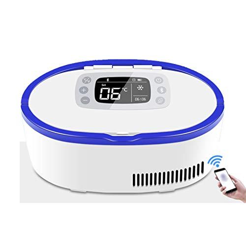Draagbare koelkast met lithium-ion-batterij, koelaccu voor groeisoorten, kleine koelkasten, telefoon, intelligente temperatuurregeling, design van de greep.