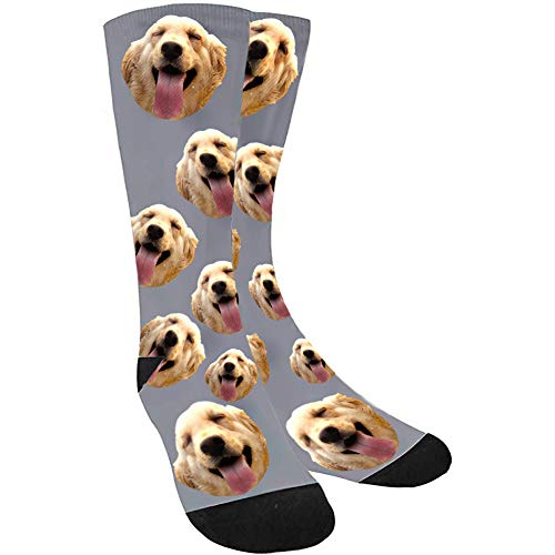 Custom Socks with Face Dog Socks, Your Photo on Personalized Novelty Socks with Picture for Men Women