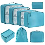 Eono Essentials 8-Pcs Lightweight Luggage Packing Organizers Packing Cubes for <span class='highlight'>Travel</span> <span class='highlight'>Accessories</span> Teal