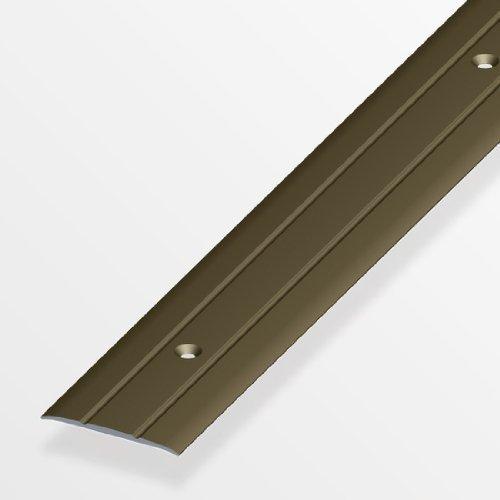 Übergangsprofil flach/gelocht; 37mm/200cm Alu eloxiert bronze