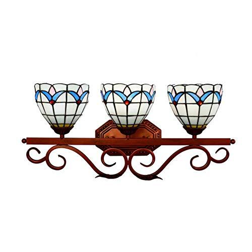 AWCVB Lámpara De Pared Moderna, Espejo De Estilo Tiffany Espejo Luz Delantera Declinante Mesa Maquillaje Afeitado De Iluminación De Luz De Iluminación