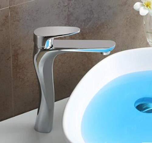 Cuarto de baño moderno Productos acabado cromo de agua caliente y fría del grifo del lavabo del mezclador, sola manija El agua del grifo torneira
