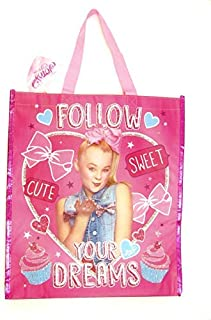 Jojo Siwa Large shopping Tote Carry All Bag Follow your Dreams, Pink, Small
