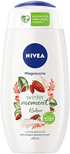 NIVEA Winter Moment Kakao Pflegedusche (250 ml), winterliches Duschgel mit dem warmen Duft von Kakao, Cremedusche mit Macadamia-Öl