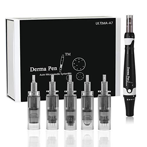 Dr pen Ultima A7, Missicee 0-2.5mm Dermapen profesional eléctrico Auto Stamp Cartuchos...