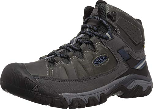 KEEN Men's Targhee iii mid Leather wp-m Hiking Boot, Steel Grey/Captains Blue, 13 M US
