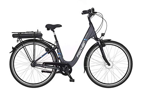 FISCHER E-Bike City ECU 1401, Elektrofahrrad, anthrazit, 28 Zoll, RH 44 cm, Frontmotor 20 Nm, 36 V Akku