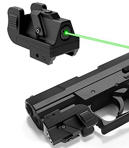 QR-Laser Green Dot Gun Laser Sight Tactical Picatinny Rail Mount for Pistols Handguns Subcompact USB Rechargeable Upgraded G10