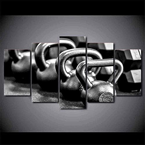 WNQMY Stampe su Tela 5 Pezzi Stampa HD Kettler Ball Gym Poster Pittura su Tela Immagine di Arte della Parete Decorazione della Casa Soggiorno