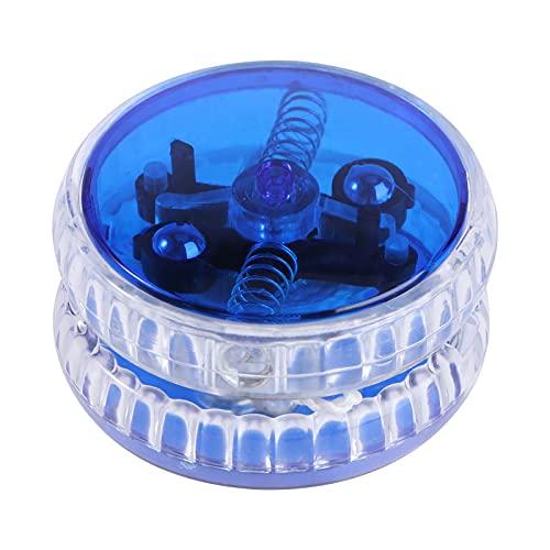 TomaiBaby Yoyo con Luz Led 1Pc 5. 7X5. 7X3 Cm Flash Yo-Yo Led Color Azul Truco Yoyo Juguete Educativo Cuerda Yo-Yo Bola para Niños Adolescentes Niños Pequeños
