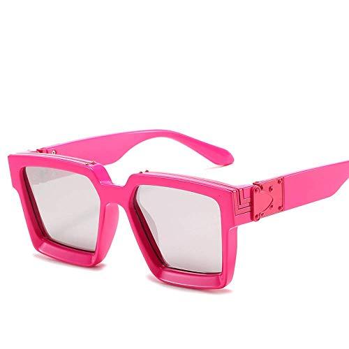 Celebridades europeas y americanas de Internet con las mismas gafas de sol de marco grande para mujeres, gafas de sol de moda millonarias para hombres