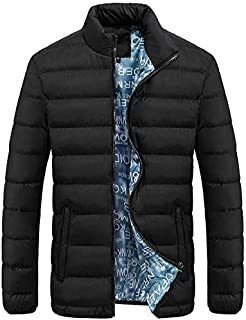 Elogoog Men's Slim Fit Packable Lightweight Down Jacket Puffer Coat Waterproof