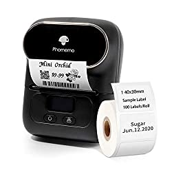 powerful Phomemo-M110 Label Maker is a portable Bluetooth thermal label maker for clothing, jewelry and more.