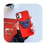 Coque 3D Bouledogue français pour iPhone 6 7 8 Plus 12 Mini 11 Pro X XS XR MAX pour Samsung Galaxy...
