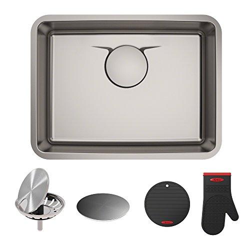 Dex Kitchen Sink, 25, Radiant Pearl Finish - KRAUS KD1US25B