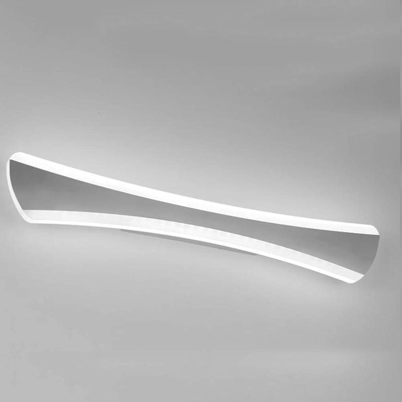 SXFYWYM LED Spiegellampe Bathroom Edelstahl Modern Simple Waterproof Anti-Nebel für Toiletten-Wandbeleuchtung,Weiß,52cm