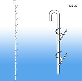 "Metal Merchandising Clip Strip, MS-32, Pack of 10   31"" Long Economical Metal Clip Strip   All Steel Construction Wand Retailer Strip   Item: MS-32"