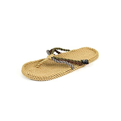 Nomadics San Juan Unisex-Erwachsene Sandale aus Seil Camel, 37