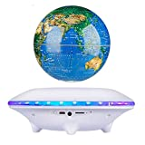 JJYY Lámpara de Globo Flotante de 6'con luz LED, Globo Flotante magnético Blanco para niños