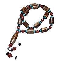 ZHIBO Halskette mit natürlichen Achat-Dzi-Perlen, Schmuckkollektion
