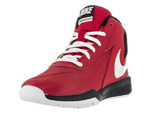Nike Nike Boys Team Hustle D 7 Basketball Shoe University Red/White/Black Size 13 Kids US