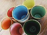 Keramik Becher Konus mit Goldrand D=9cm H=11,5cm Füllmenge=300ml