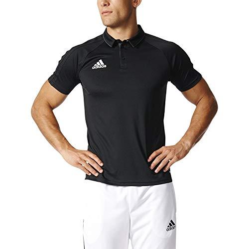 Adidas Tiro 17 Mens Soccer Polo S Black-Dark Grey-White