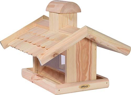 dobar 21277e Klassisches Vogelhaus groß aus Holz mit Futter-Silo, 38 x 38 x 30 cm - 2