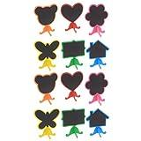 Milisten 2 Ensembles / 12 Pcs Mini Panneaux en Bois avec Chevalet Stand Petites Étiquettes de Tableau pour Les Numéros de Table Décoration de Fête de Mariage