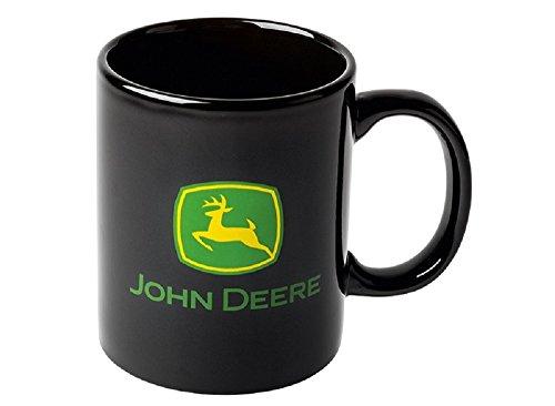 JOHN DEERE Schwarze Tasse, Schlichter Kaffee-Becher mit Hirsch-Logo