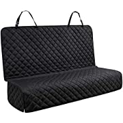 YesYees Waterproof Dog Car Seat Covers Pet Seat Cover Nonslip Bench Seat Cover Compatible for Middle Seat Belt Fits Most Cars, Trucks and SUVs