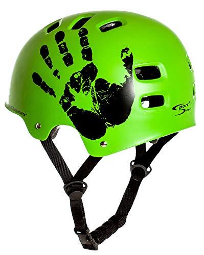 Sport DirectTM BMX-Skate Helm grün 55-58cm CE EN1078:2012+A1:2012 - 2